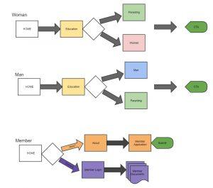 diagram of user flows